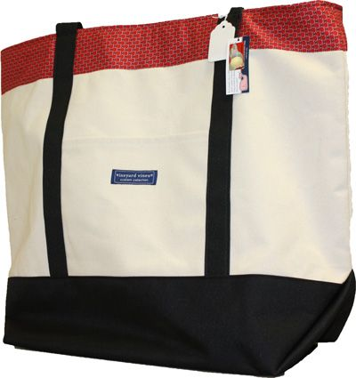 Vineyard Vines Large Classic Tote With Red Band 12259632 | Miami University Bookstore