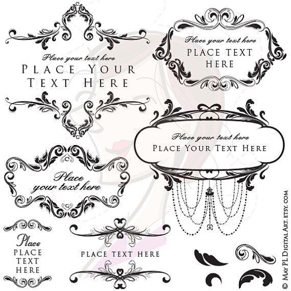 Antique Frame Clipart DIY Classic Wedding Retro Invitation Vintage Rustic Chandelier Flourish Frame Old World DIY Bridal Png Files 10021 #Classic #Wedding #Retro