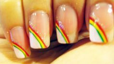 Rasta Rainbow Nails