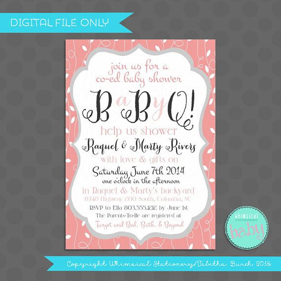 the  best baby shower barbeque ideas on   fruit, Baby shower invitation