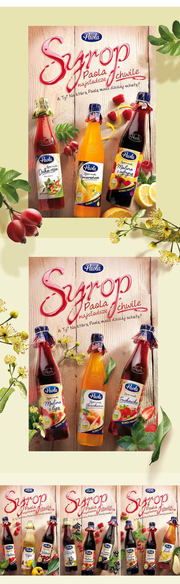 PAOLA Syropy | PND Futura | Agencja brandingowa, Projektowanie opakowań, Food Photography