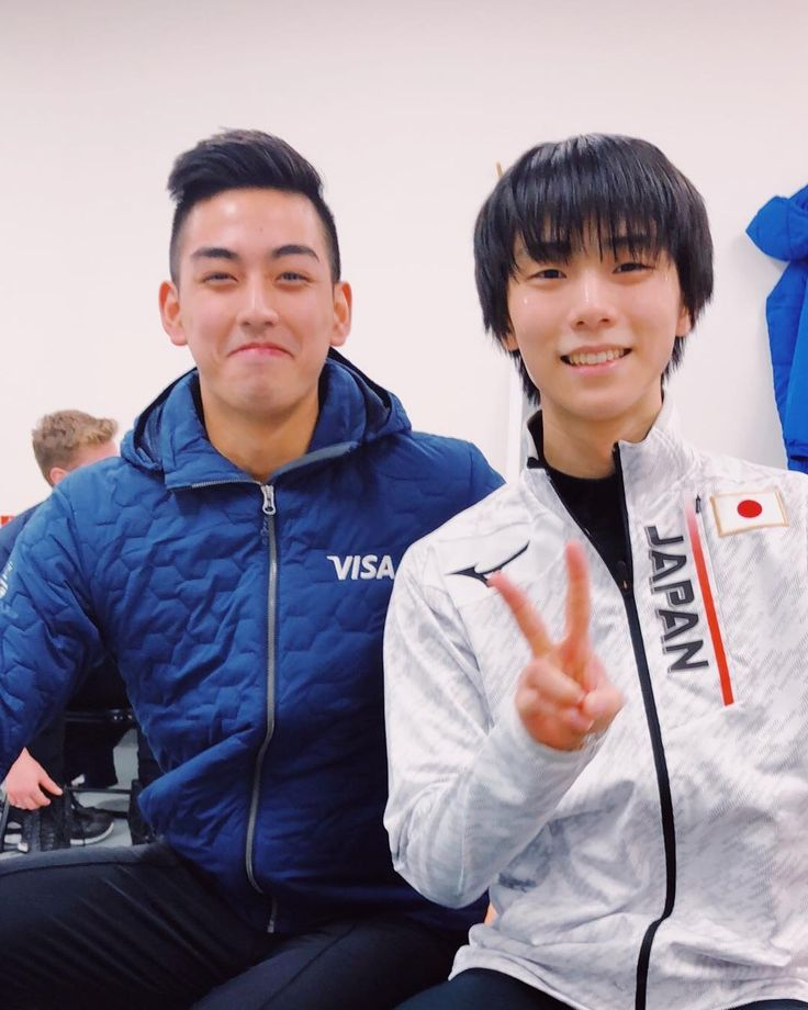 With the two time Olympic Champion #YuzuruHanyu   What I'm more happy about is that he's happy to see me back on the ice again! -  #MZViral #MichaelMartinez #PyeongChang2018 #WinterOlympics2018