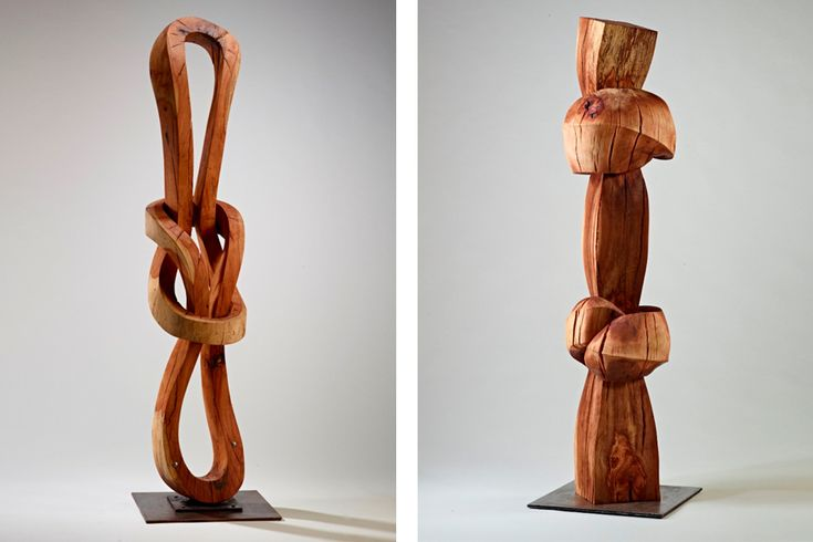The Hawaiian-born artist started working with wood in his father's canoe shop. Now, his carved abstractions are on display in San Francisco.