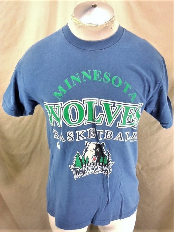 Vintage 2000 s Hanes Minnesota Timberwolves (Medium) Retro NBA Basketball  Shirt (eBay Link) 36190b8ea