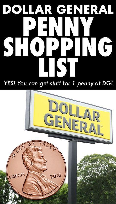 Dollar General Penny Shopping List 2019