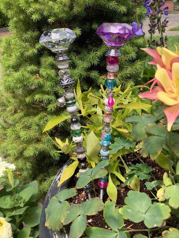 14 beaded fairy garden stakes in 2020 fairy garden
