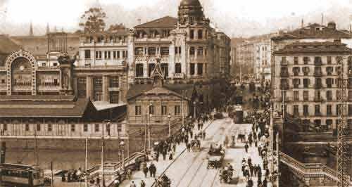 bilbao antiguo fotos - Buscar con Google . Puente del Arenal y calle Navarra