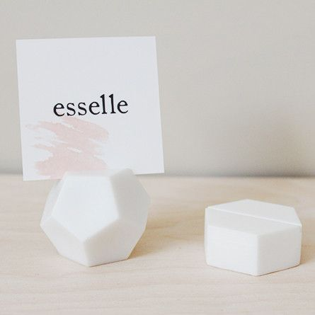 Desk Accessories Geometric Place Card Holder For Name Cards Escort Table Numbers Polaroids Art Prints