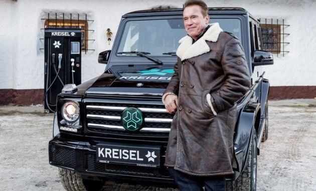 I`ll be back: Арнольд Шварценеггер показал электрический Mercedes-Benz G-Class ·