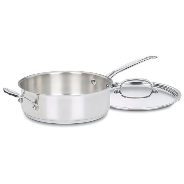 Cuisinart 733-30H Chef's Classic Saute Pan With Helper Handle & Cover, Silver stainless steel