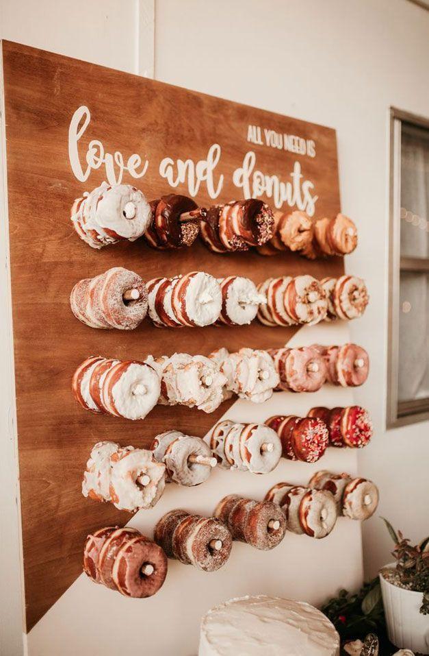 25 Hochzeit Donuts Eine Lustige Alternative Hochzeit Dessert Ideen Gia Dedication Donut Decor In 2020 Donut Wall Wedding Wedding Donuts Wedding Cake Alternatives