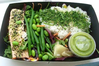 Miso-marinated rare salmon box. Tasty selection from itsu #london #eatbeautiful