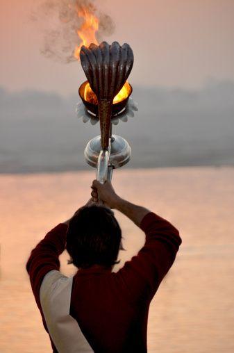 Morning blessing on Ganges