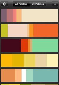 Handy colour palette app: ColorSchemer Touch.