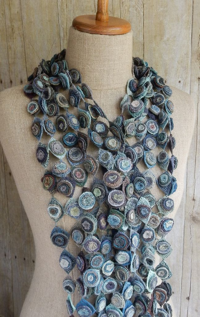 "Sophie Digard crochet: ""Cell"" linen scarf"