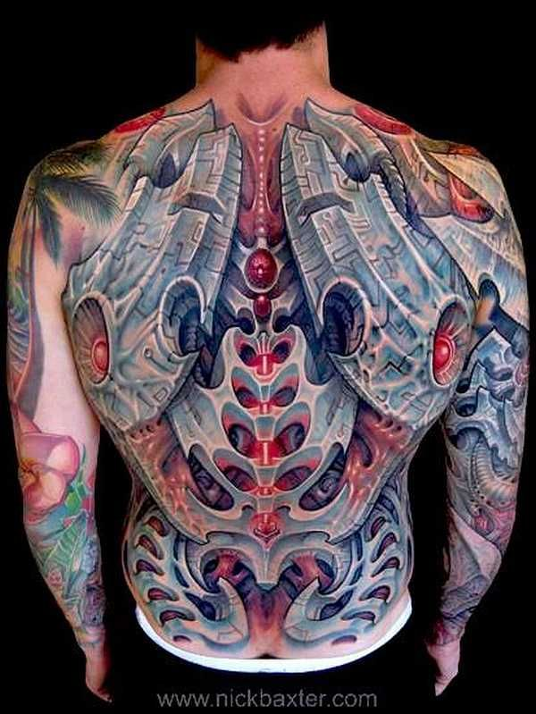 Awesome Biomechanical Tattoos - #Tattoo # Idea #Biomechanical