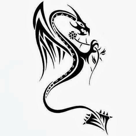Tribal female dragon
