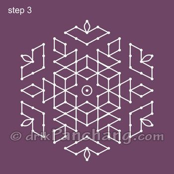 rangoli designs with dots - Google Search
