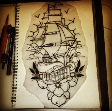 Tattoo traditional ship tat 53 trendy Ideas