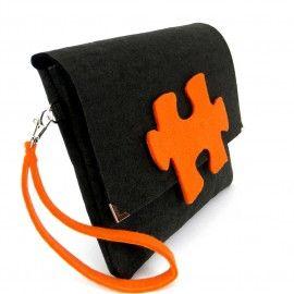 Orange puzzel - felt bag --> Zitolo.com