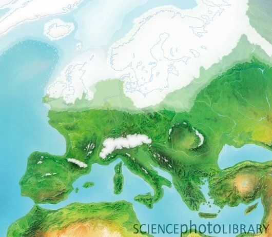 Europe at the peak of the Ice Age