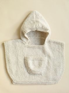 Image of Hooded Baby Poncho