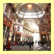 Leadenhall Market is a covered market in the City of London, located at Gracechurch Street. The market dates back to the 14th century. It is open weekdays from 7am until late, and primarily sells fresh food.