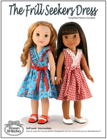 Forever 18 Inches Frill Seekers Doll Clothes Pattern For 14.5 Inch Dolls | Pixie Faire
