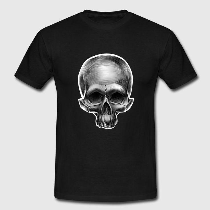 Totenkopf Totenschädel Skull T-Shirt - Männer T-Shirt #Totenkopf_Shirts #Totenkopf_T_Shirts #Schaedel #Totenkopf #Skull #Schädel #death_metal  #skull_design_tshirts #Totenkopf bluelittlebird designs, metal death, skull t-shirts, best skull tees, death metal shirts, Skulls Shirts, metal fans, skull fans, Skull tees, best skull t-shirt, metal shirts,Totenkopf stilisiert, Totenkopfschädel, Knochen, Skelett #Totenkopfshirts #Totenkopf_TShirt #Horror_Shirts #Totenkopf_Tattoos
