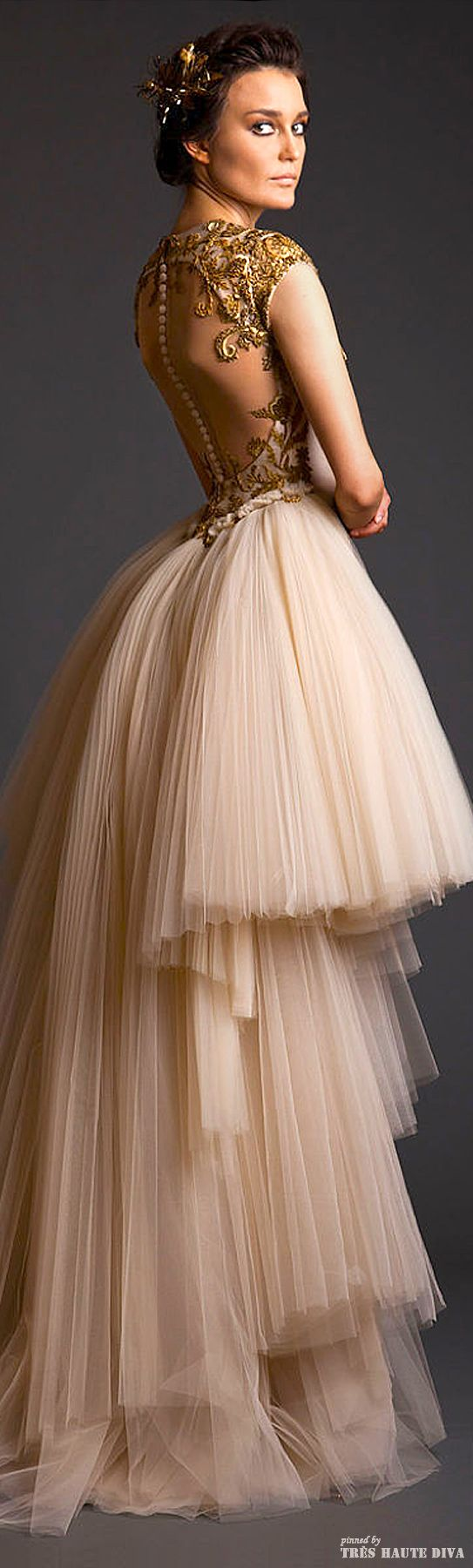Krikor Jabotian Couture...The attention to detail on this gown is amazing and the back is gorgeous!