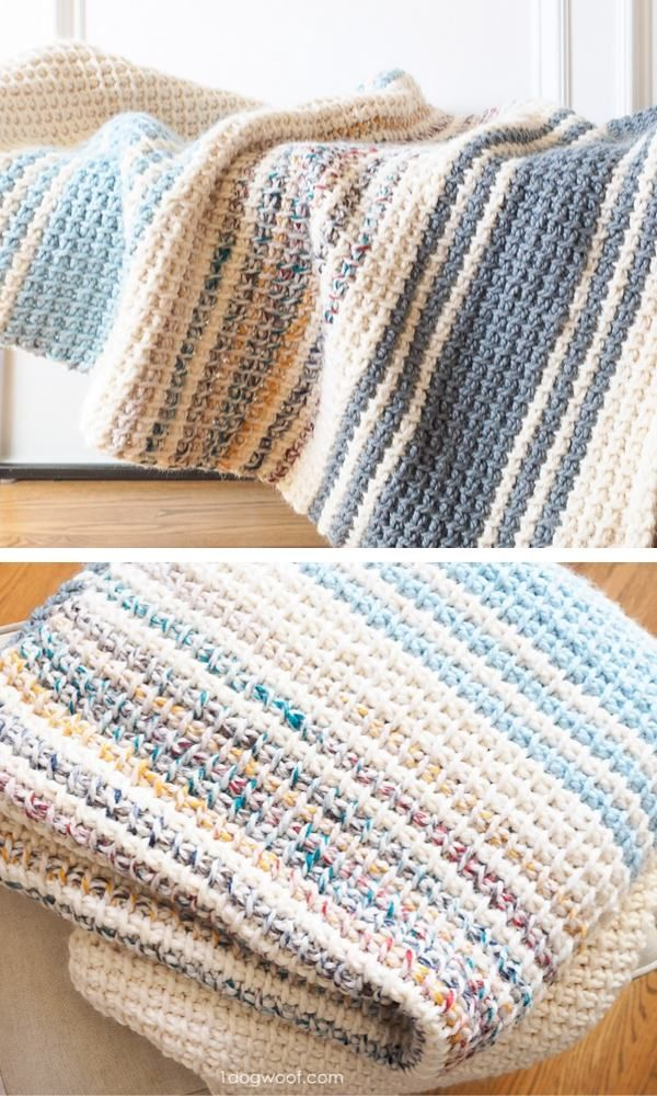 This Simple And Quick Baby Blanket Crochet Pattern Is Perfect