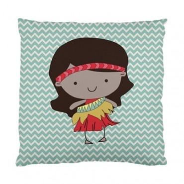 Sweet ill Maori girl pillow