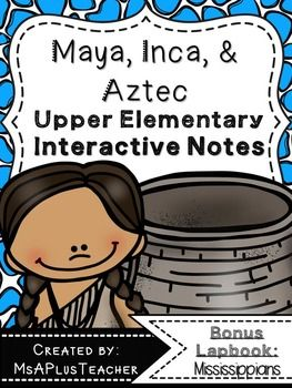 Included are 23 different Interactive Notebook activities (41 total pages) that cover various topics related to the Maya, Inca, and Aztecs. You can use these pages as interactive notes for notebooks or as a stand alone lapbook. Lapbook covers and directions are included.