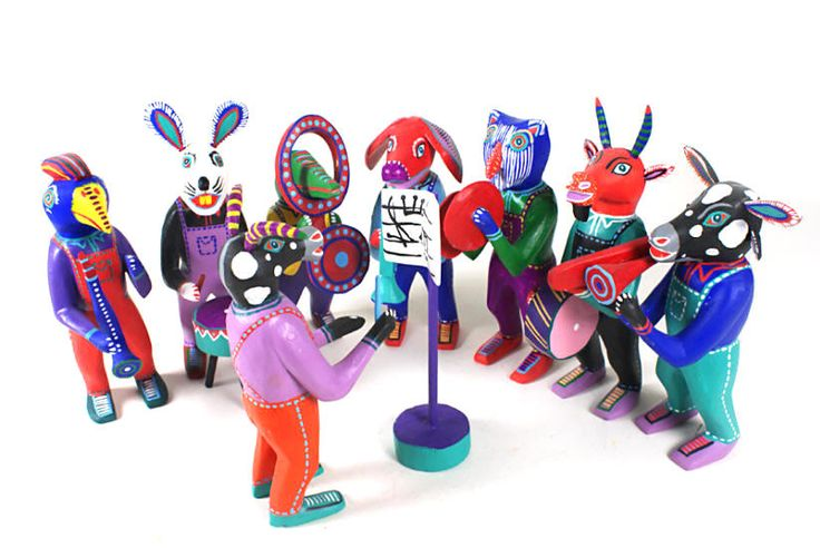 Oaxacan Wood Carvings Gallery Martin Melchor Band
