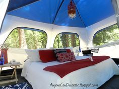 Ultimate inside camping tent decor | GLAMPING We Will Go... GLAMPING = Glamorous Camping
