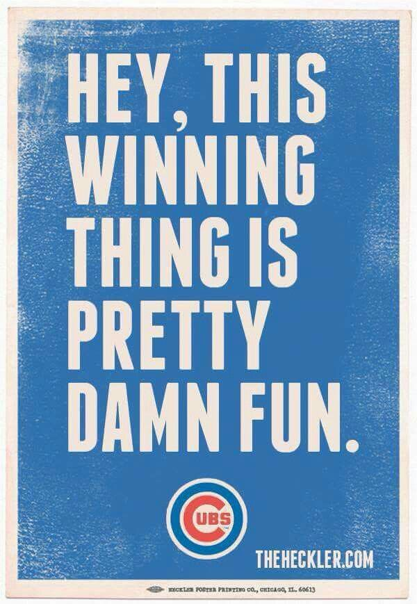Go Cubs Go, Go Cubs Go! Hey Chicago what do you say? The Cubs are gonna win today!