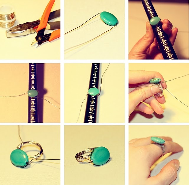 DIY Wire Wrapped Ring #jewelry ring #DIY