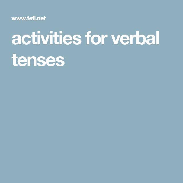 activities for verbal tenses