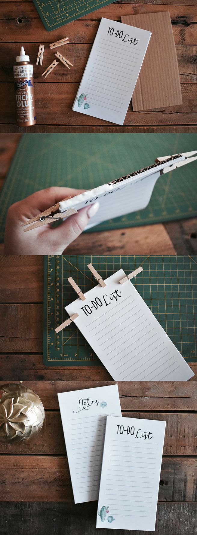 Learn how to easily make your own DIY notepad + free printables included!