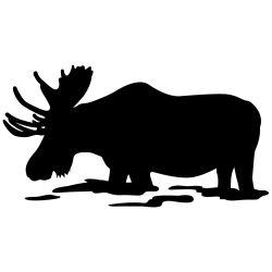Feeding Moose Wall Decal