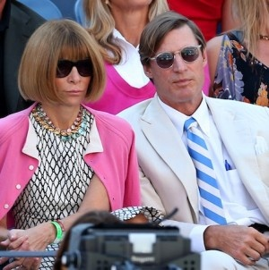 Tennis fans Shelby Bryan and Anna Wintour.....