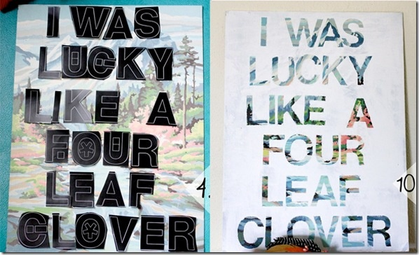 From thrift store art to customized art (using only vinyl letters and and acrylic paint)!