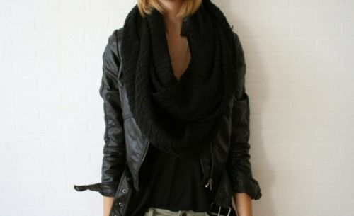 leather jackets & chunky scarves