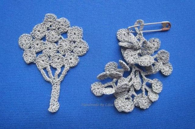 Crocheted reflectors Handmade by Liisa