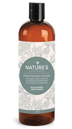 Nature's Symphony Moisturising Conditioner with Crab Apple Bach Flower Remedy.