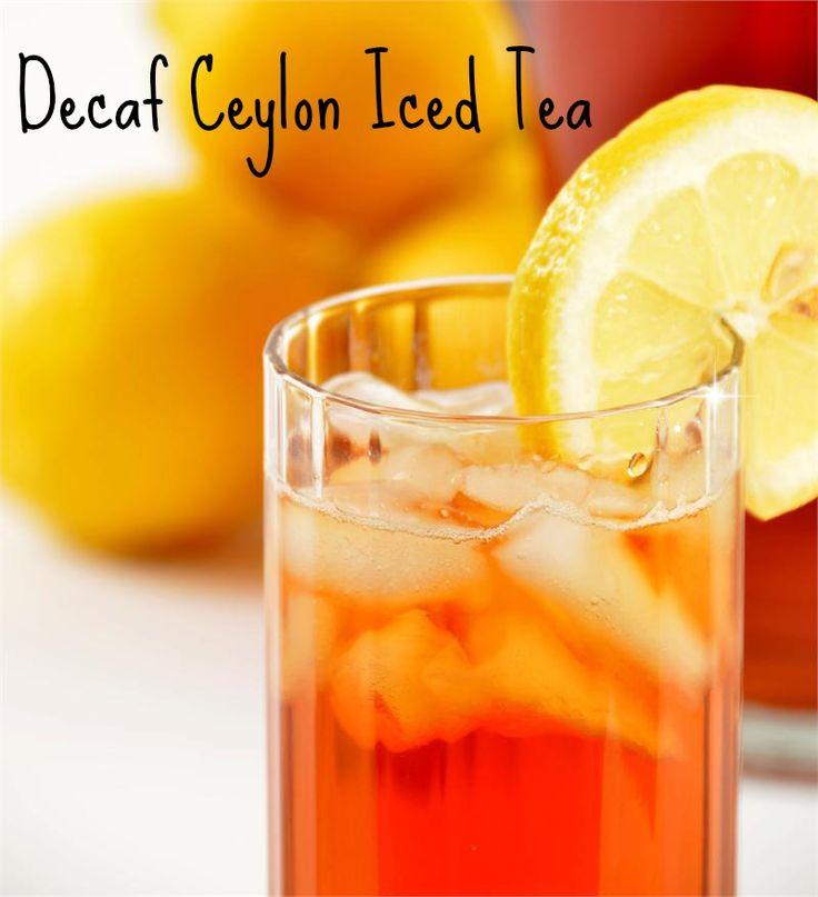 The perfect glass of iced tea - 98% caffeine-free (decaffeinated) and 100% organic from Sri Lanka (formerly Ceylon).