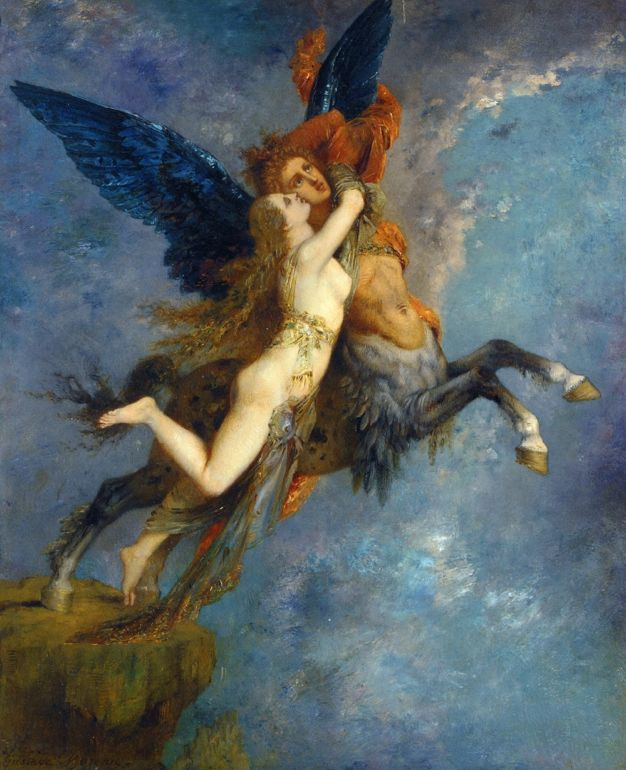 "cavetocanvas: "" Gustave Moreau, The Chimera, 1865 """