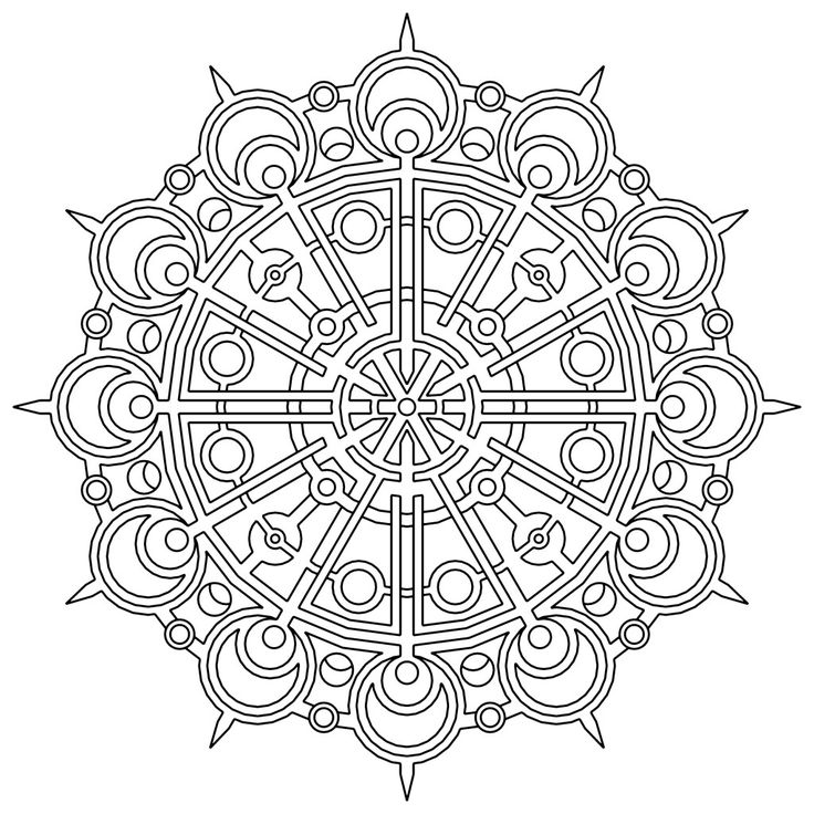 95 best Mandala coloring pages images on Pinterest | Coloring ...