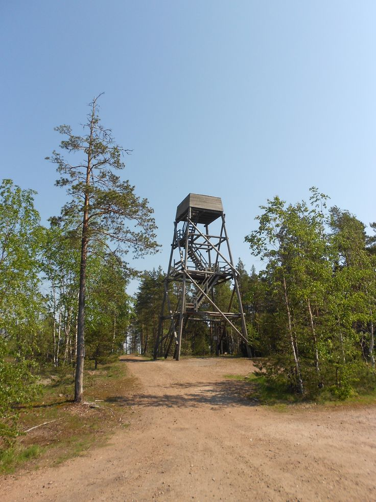 Observation tower ,Place Klamila,(Old air monitoring station during the war ) Hamina is a town and a municipality of Finland. It is located in the province of Southern Finland and is part of the Kymenlaakso region.Summer 2014
