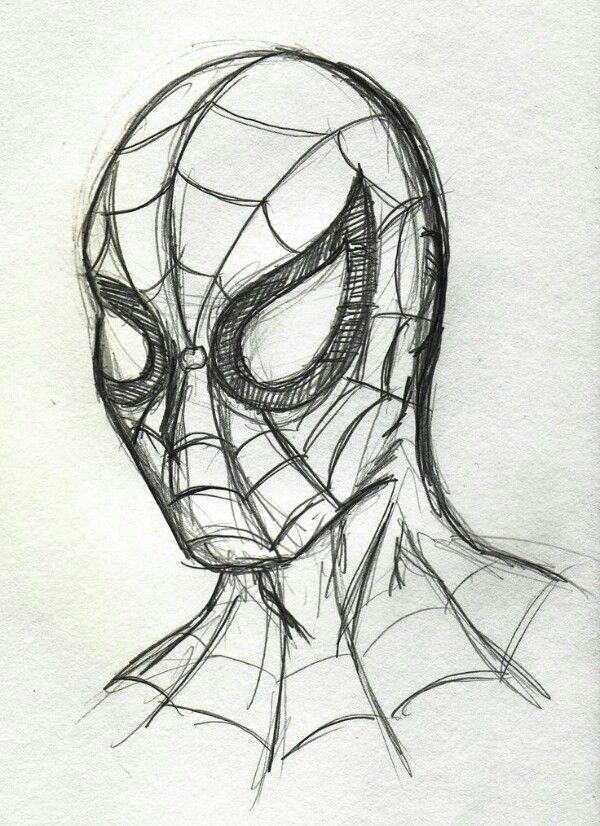 Spiderman drawing easy drawings pinterest superhero for Art sketches easy